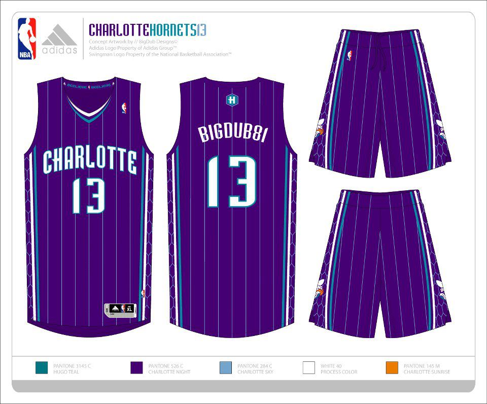 Possible Charlotte Hornets 2014-2015 Uniforms, Logo, and Court!