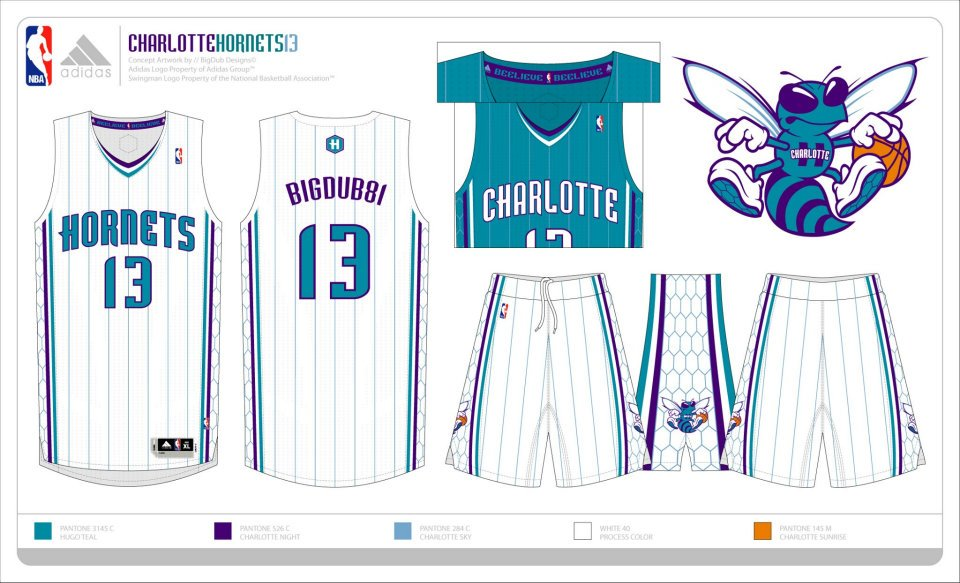 Possible Charlotte Hornets 2014-2015 Uniforms, Logo, and Court! (4/5)