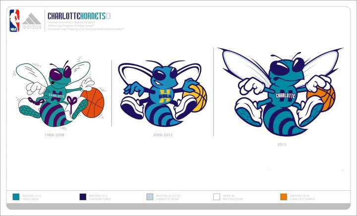 Possible Charlotte Hornets 2013-2014 Uniforms, Logo, and Court (4/6)