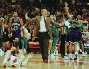 Charlotte Hornets head coach Allan Bristow teases