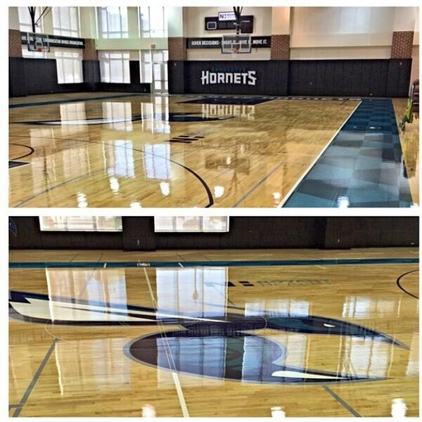 Charlotte Hornets New Practice Court