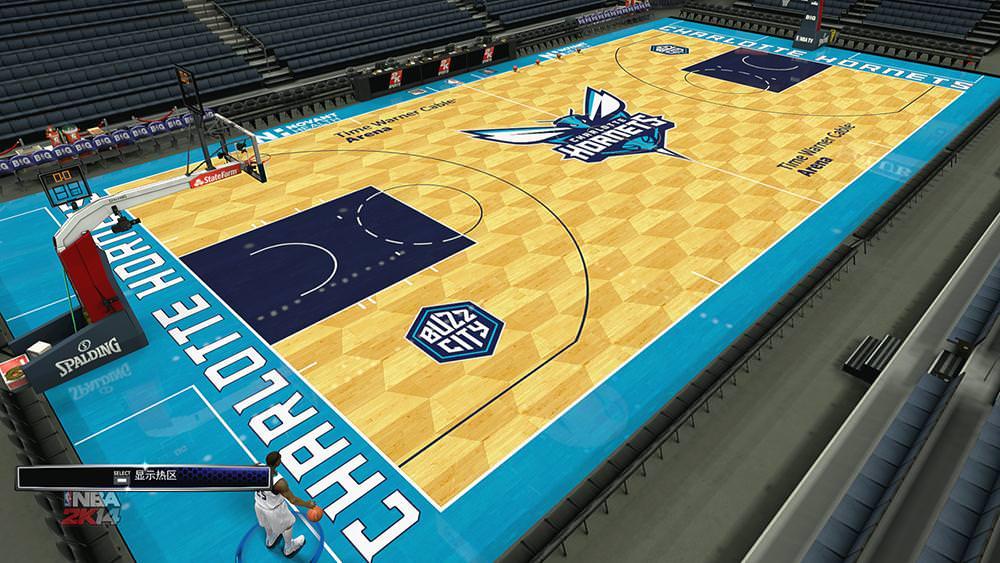 4780413c3 2K14 New Charlotte Hornets Court   Uniform Mods